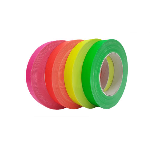 4x Neon 25mm x 25m Gaffa fabric tape adhesive tape