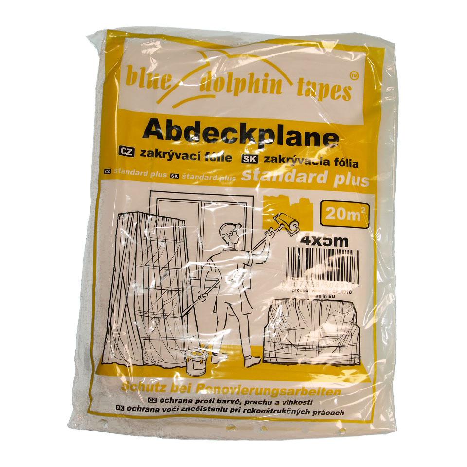 abdeckfolie 4m x 5m malerplane schutzplane tape connection. Black Bedroom Furniture Sets. Home Design Ideas