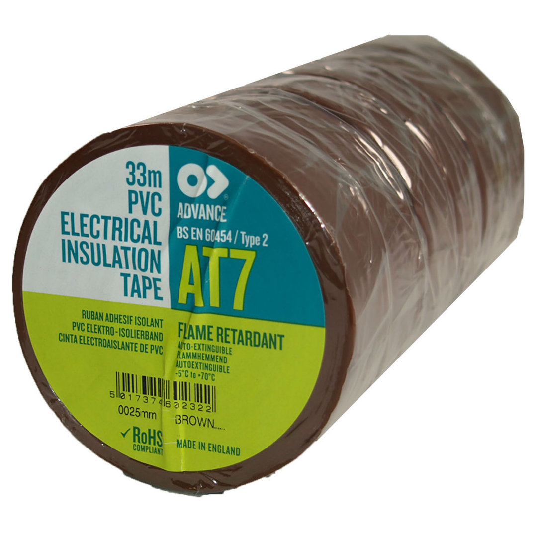 At7 Pvc Electrical Insulation Tape 25mm X 33m Connection Wire With Certificate Of