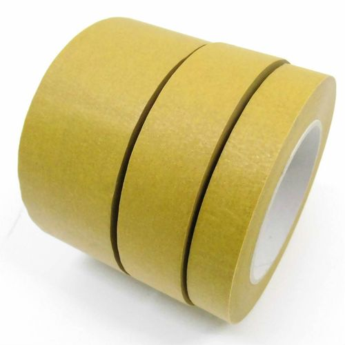 Self-adhesive tape 120 ° C 50m Automotive lacquering tape tearproof crepe paper Water resistant 140m