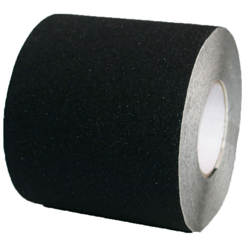 PVC Safety tape adhesive tape 150mm x 18m Black Self-adhesive