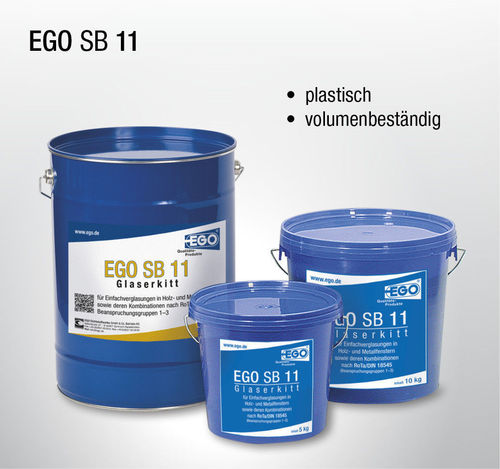EGO SB 11 is a putty for single glazing of timber and metal windows