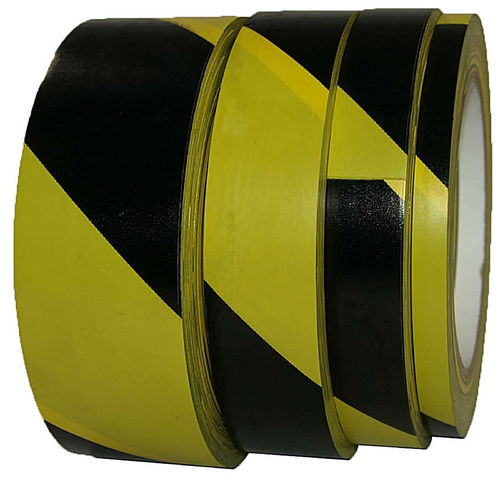HAZARD STRIPE VINYL MARKING TAPE Black/Yellow