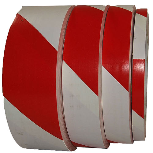 HAZARD STRIPE VINYL MARKING TAPE Red/White