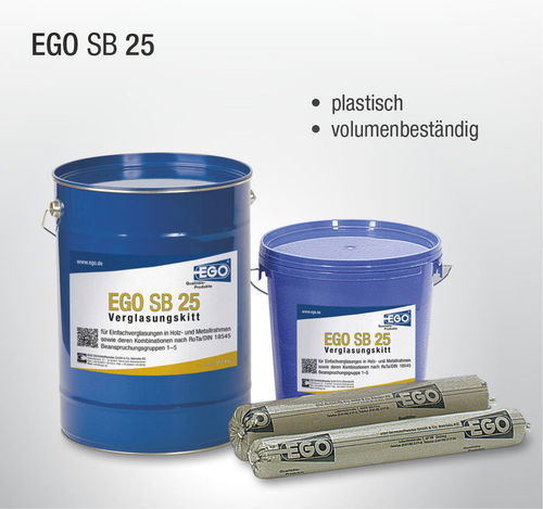 10 KG EGO glazier putty SB 25 bucket soft plastic putty wood metal
