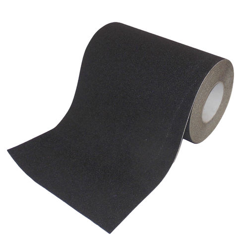 PVC Safety tape adhesive tape 300mm x 18m Black Self-adhesive