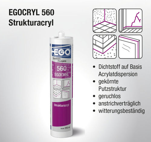 EGOCRYL 560 Structured acrylic white 310ml