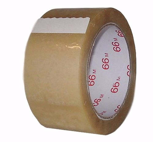 PVC Packband 866 braun 66m x 50mm Transparent